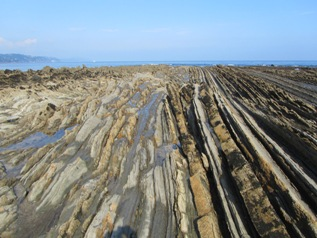 Flysch rock formations at the Basque Coast Geopark