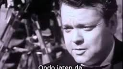 Orson Welles filming Land of the Basques