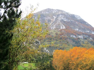 View of Mt Txindoki in the autumn